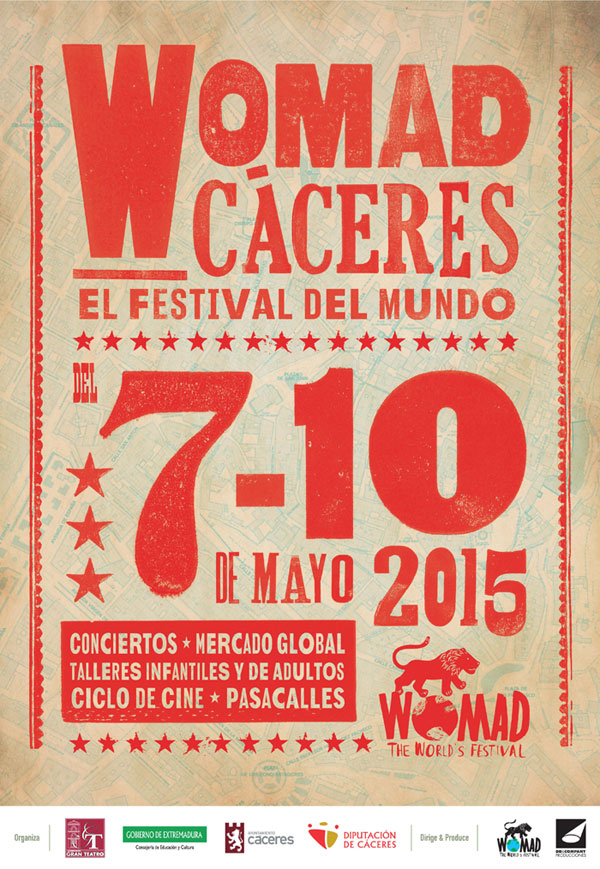Cartel WOMAD Cáceres 2015