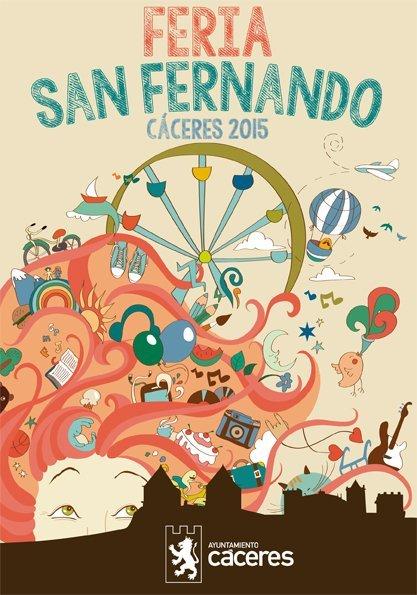 Cartel Feria S.Fernando Cáceres 2015