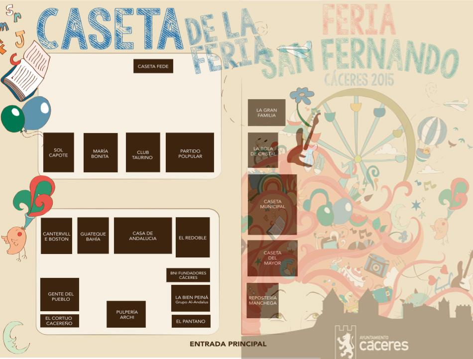 Plano Casetas Feria San Fernando Cáceres 2015