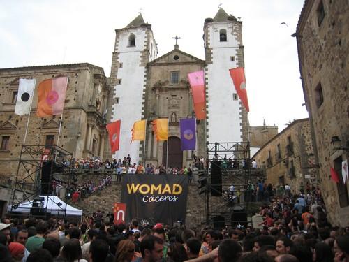 Escenario Womad Cáceres Plaza San Jorge