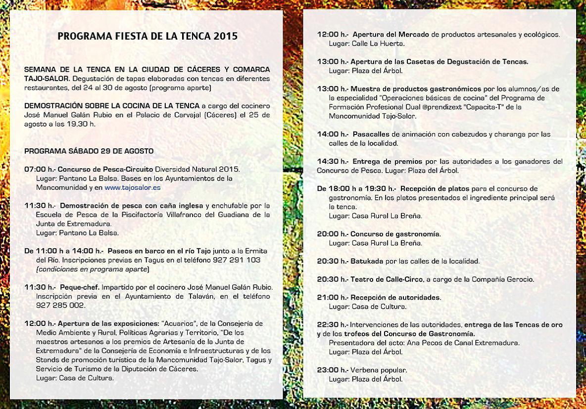 Programa Fiesta de la Tenca 2015