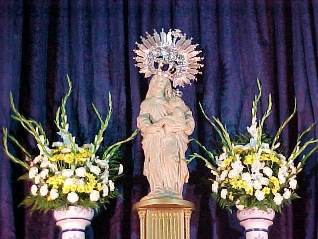 Virgen de la Victoria de Trujillo, durante la Novena.