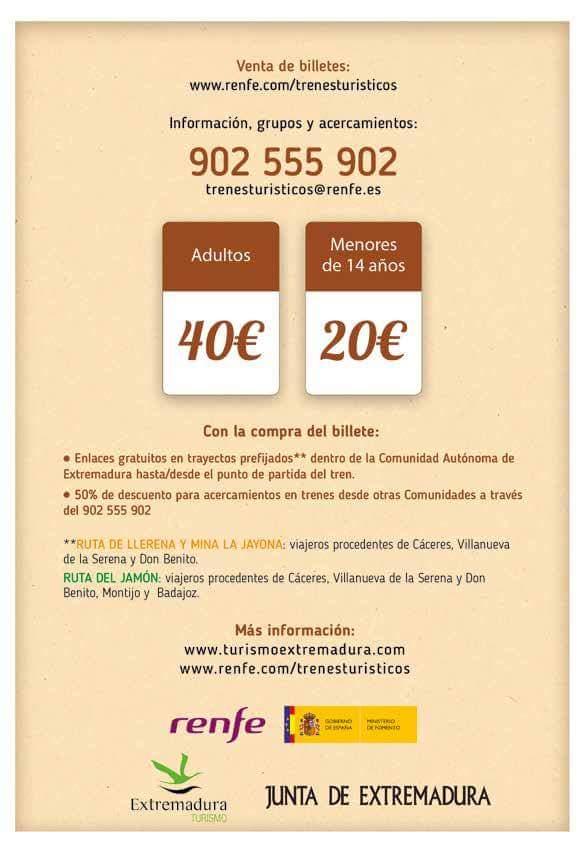 Trenes Turísticos de Extremadura.