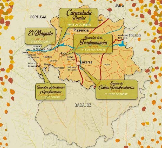 Otoño de Sabores 2015 - Mapa