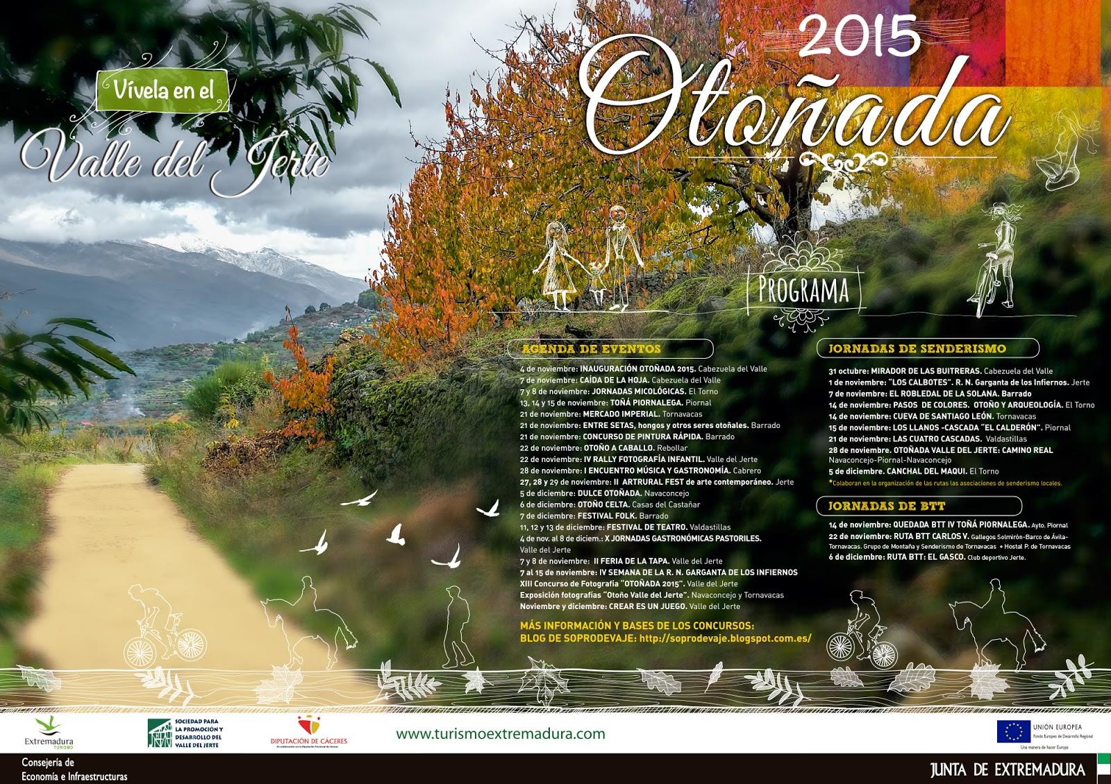 Programa Otonada 2015 Valle del Jerte