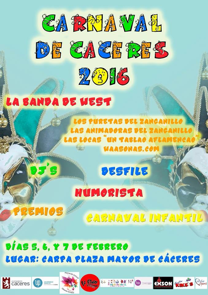 Cartel Carnaval Cáceres 2016
