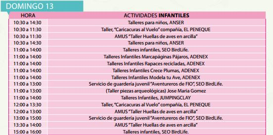 Actividades Infantiles FIO 2016 Domingo
